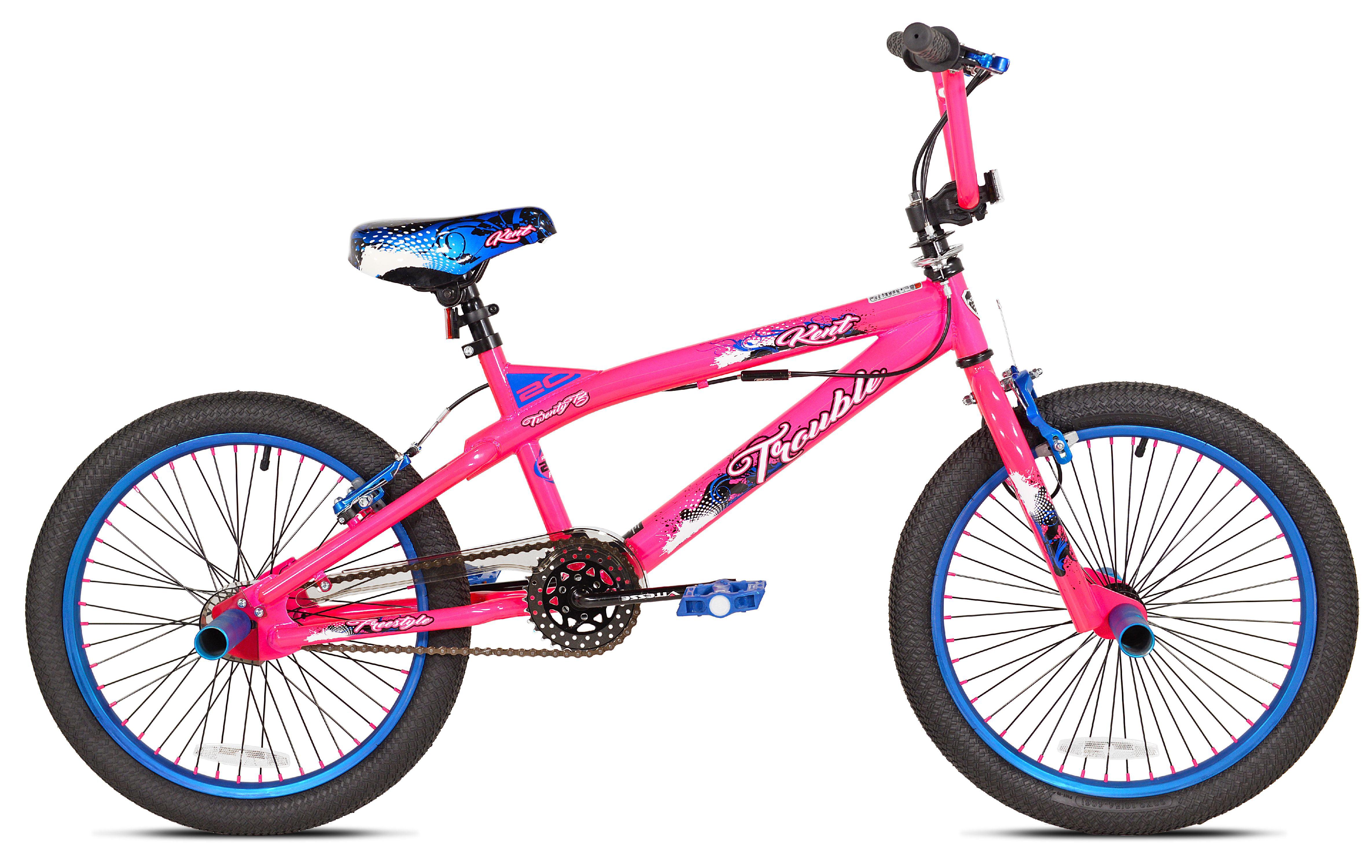 "20"" Kent Trouble Girls' Bike, Pink Blue by Kent International Inc"