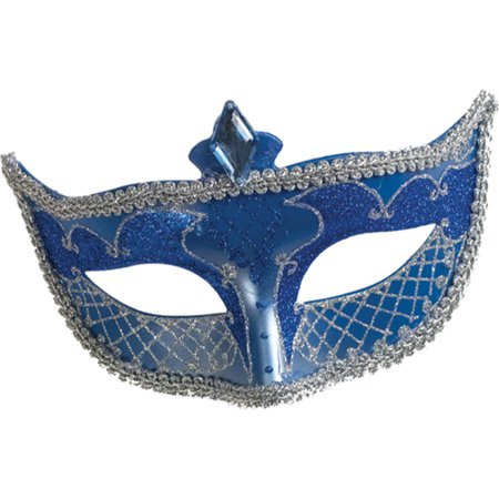 Morris costumes FW93252BU Carnival Mask No Feather Blue