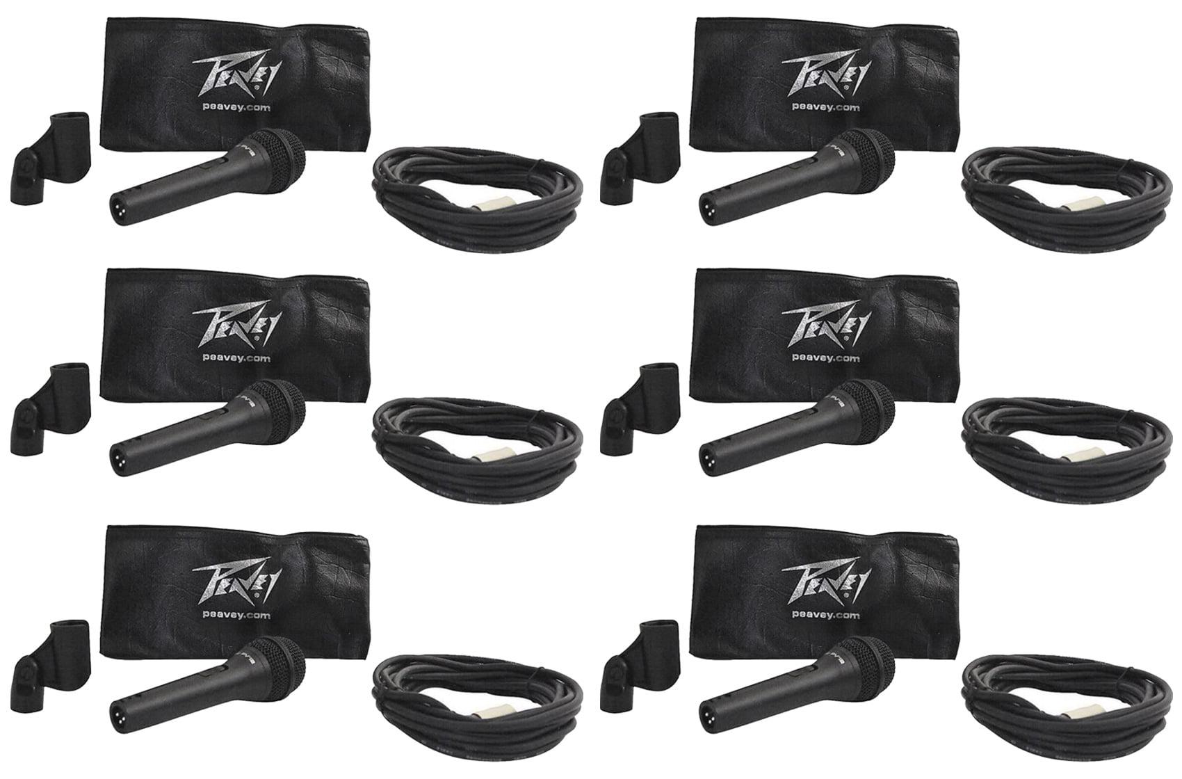 (6) Peavey PVI-2 XLR Steel Die Cast Vocal Microphones, Cardioid, Dynamic PVI2XLR by Peavey