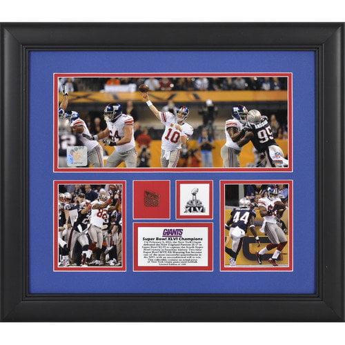 Mounted Memories NFL New York Giants Super Bowl XLVI 3-Photo Collage Framed Memorabilia