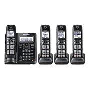 Refurbished Panasonic KX-TGF544B Cordless Phone With Handset Cordless Phone with Answering Machine - 4 Handsets