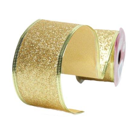 Gold Wire Edge Glitter Ribbon (Tiffany & Co Ribbon)