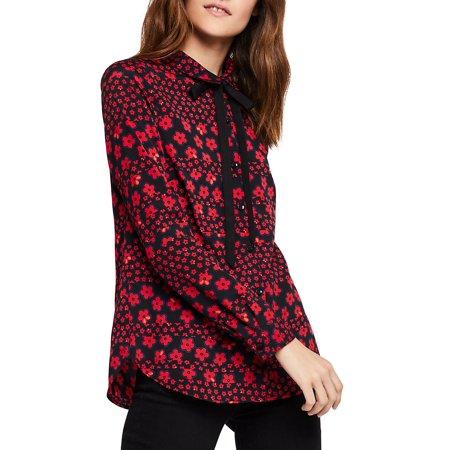 - Floral Mod Stripes Button-Down Shirt