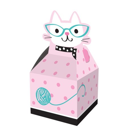 Creative Converting Cat Party Favor Boxes, 8