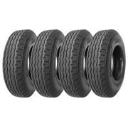 Set of 4 New Heavy Duty Highway Trailer Tires 8-14.5 14PR Load Range G- 11067