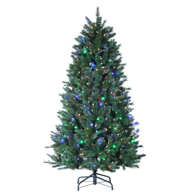 7\' Santa Fe Pine Pre-Lit Color-Changing LED Artificial Christmas ...