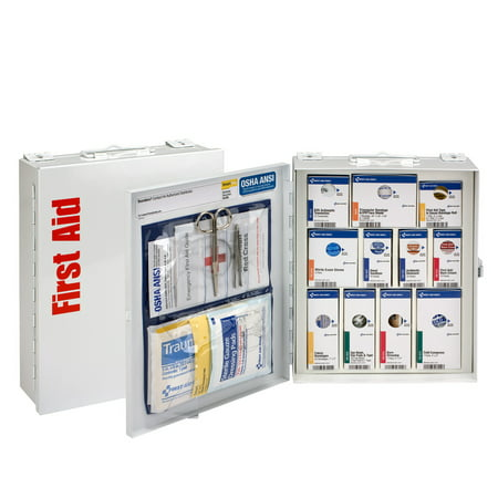 First Aid Only 25 Person Medium Metal SmartCompliance Cabinet without (First Cabinet)