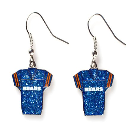 NFL Football Team Logo Womens Ladies Glitter Jersey Earrings Pick Your Team