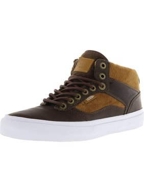 Product Image Vans Men s Bedford Duck Hunt Brown   White Mid-Top Leather  Skateboarding Shoe - 10M 4538350c0