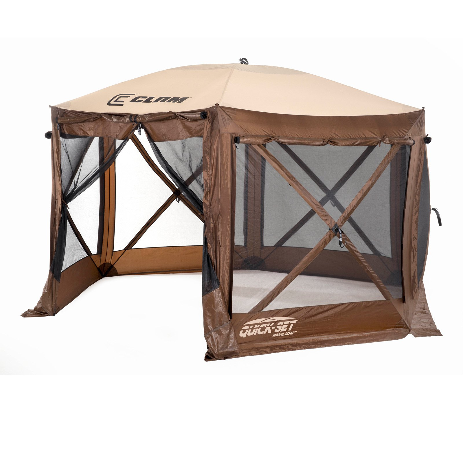 Clam Quick-Set Pavilion 6 Side DLX Canopy Shelter by Quick-Set