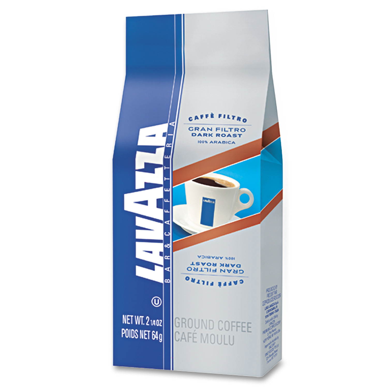 Lavazza Gran Filtro Italian Dark Roast Coffee, 30ct
