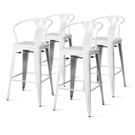 Admirable Metropolis Metal Arm Bar Stool Set Of 4 Multiple Colors Caraccident5 Cool Chair Designs And Ideas Caraccident5Info