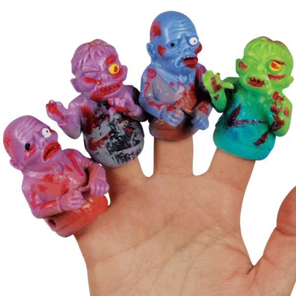 Loftus Walking Undead Zombie Halloween Finger Puppets, Assorted Colors, 48 Pack
