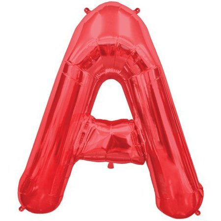 Letter A - Red Helium Foil Balloon - 34 inch (Red Heart Helium Balloons)