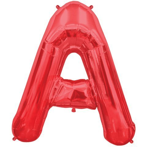 Letter A - Red Helium Foil Balloon - 34 inch