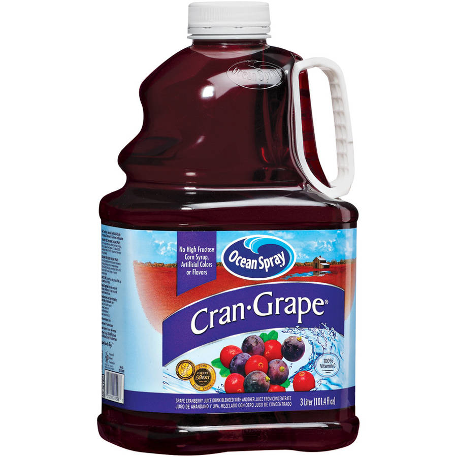 Ocean Spray Cran-Grape Juice, 3 Liters
