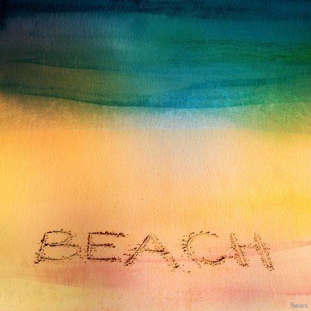 Parvez Taj Beach Sand Painting Print On Wrapped Canvas Walmart Com Walmart Com