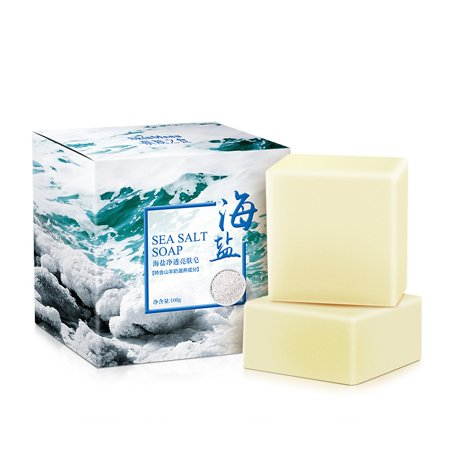 Tinymills Sea Salt Soap Pimple Acne Treatment Goat Milk Moisturizing Face Wash Soap (Goat Milk Face Soap)
