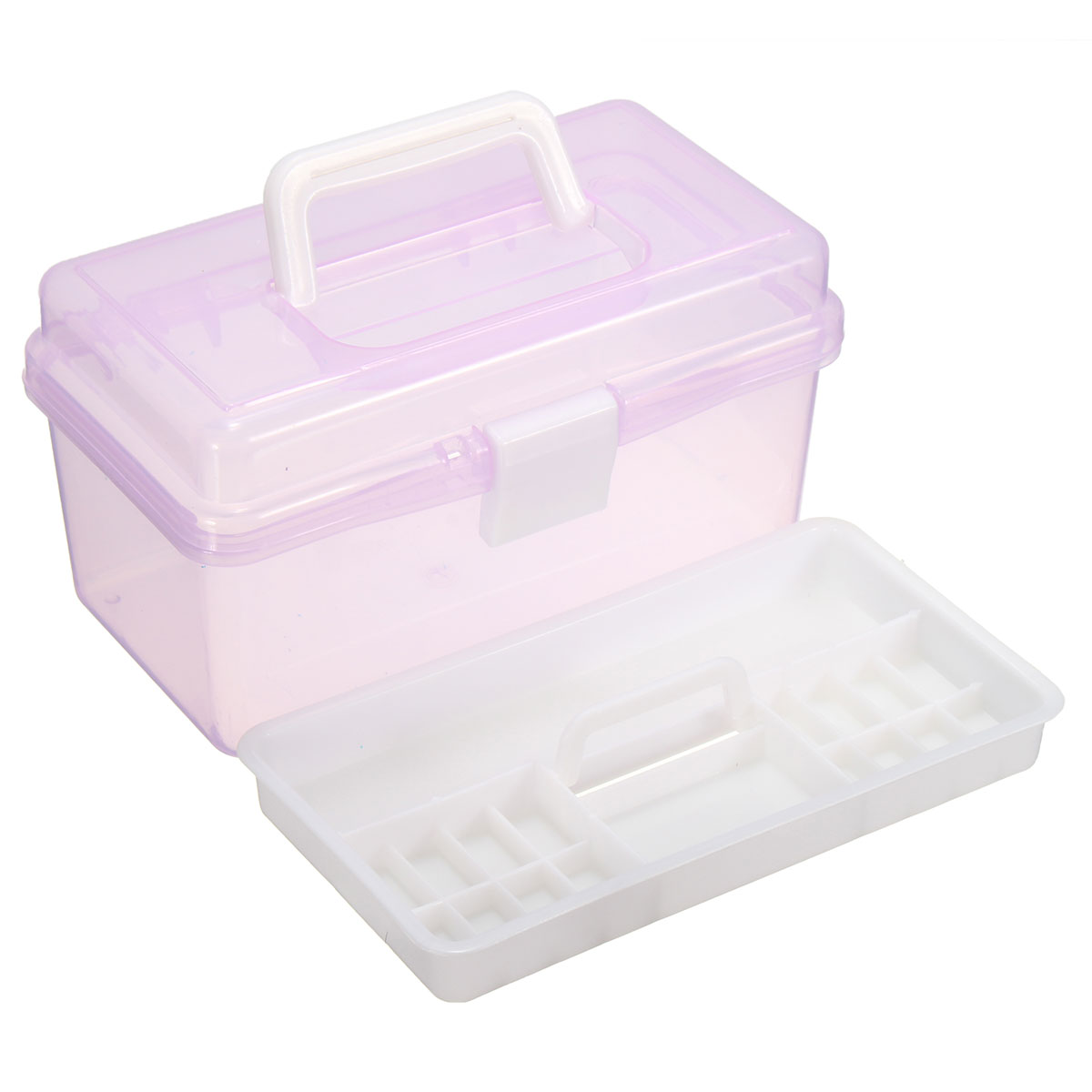 Plastic Two Double 2 Layer Storage Case Box Nail Art Craft Screws