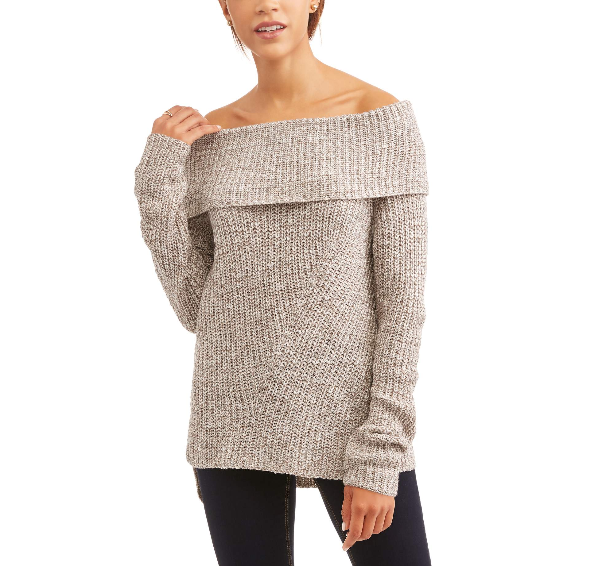 Generic Faded Glory Women's Marilyn Off the Shoulder Sweater