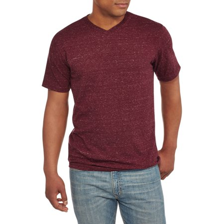 Faded glory men 39 s solid color v neck tee for Faded color t shirts