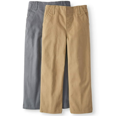 365 Kids from Garanimals Solid Woven Chino Pants, 2-pack (Little Boys & Big Boys) - 2 Pack Paints
