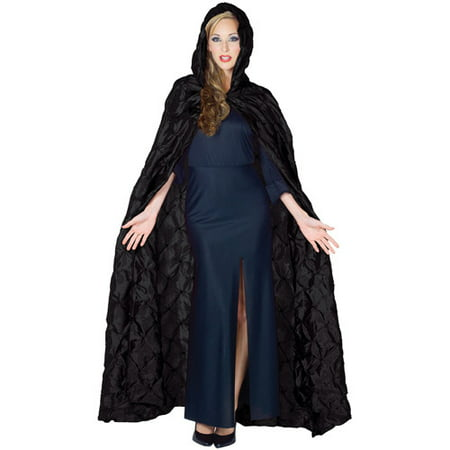 Taffeta Pin Tuck Cape Adult Halloween Accessory