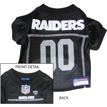 Pets First Oakland Raiders NFL Dog Jersey - Small