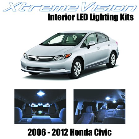 XtremeVision LED for Honda Civic 2006-2012 (6 Pieces) Cool White Premium Interior LED Kit Package + Installation Tool ()