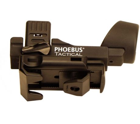 Phoebus Tactical Quick Release Rotating Fast Holster Flashlight, Black, Medium P by