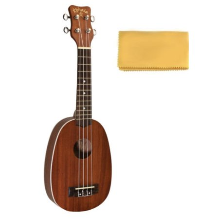 Kohala Akamai Soprano Pineapple Ukulele Free Tms Polishing Cloth   Ak Sp