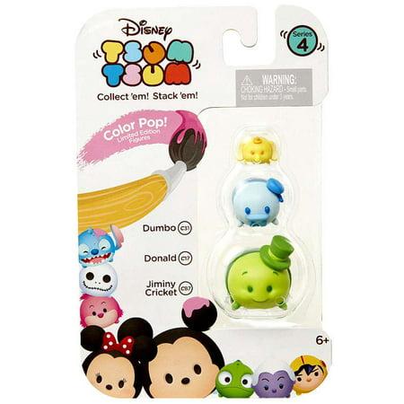 Disney Tsum Tsum Series 4 Color Pop! Dumbo, Donald & Jiminy Cricket Minifigure 3-Pack