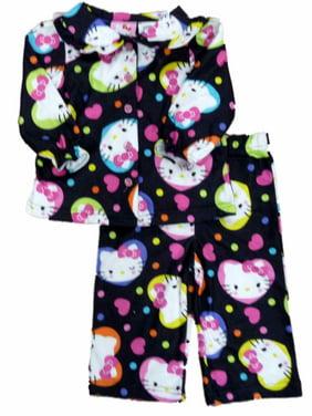 c38163927 Product Image Hello Kitty Toddler Girls Black Heart Print Sleepwear Set  Pajamas PJs