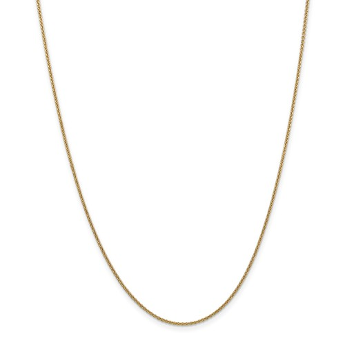 14k Yellow Gold 16in 1.60mm Round Anchor Cable Necklace C...