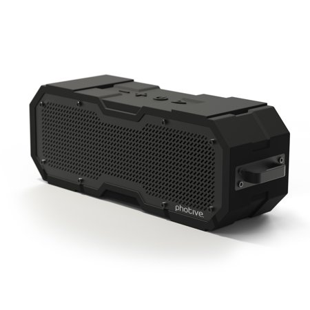 Photive CYREN II Portable Waterproof Bluetooth Speaker. Rugged Shockproof Dustproof Water-Resistant Wireless Portable Bluetooth Speaker.