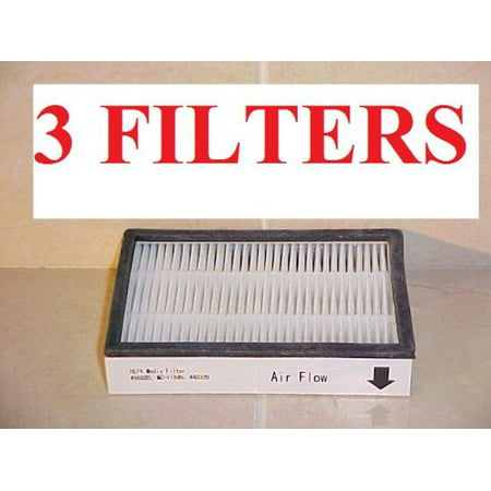 3-pack. 86880 HEPA FILTERS For Sears KENMORE Vacuums (EF2). Replaces Kenmore Part #: 8175116, KC38KBRMZ000. Genuine Green Label