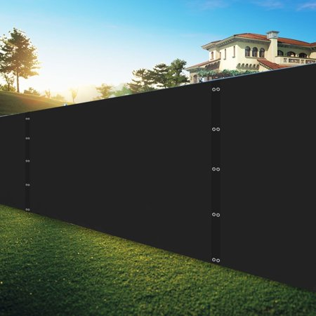 Shatex Pro Security and Privacy Windscreen,Black, 4'x25' with Grommets and Zip Ties for Quick Installation Heavy Duty Privacy Shade Mesh Fence for Garden Yard, Deck, Balcony Cover