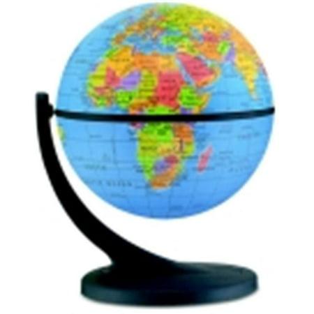Wonderglobe Political Mini Globe - 6 x 4 In. (Mini Globes)