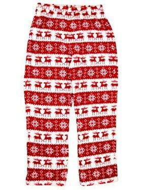 Girls Holiday Reindeer Fleece Pajama Pants 6-6x