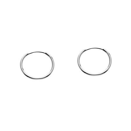 14k White Gold Endless Hoop Earrings for Ears, Cartilage, Nose or Lips (12mm)