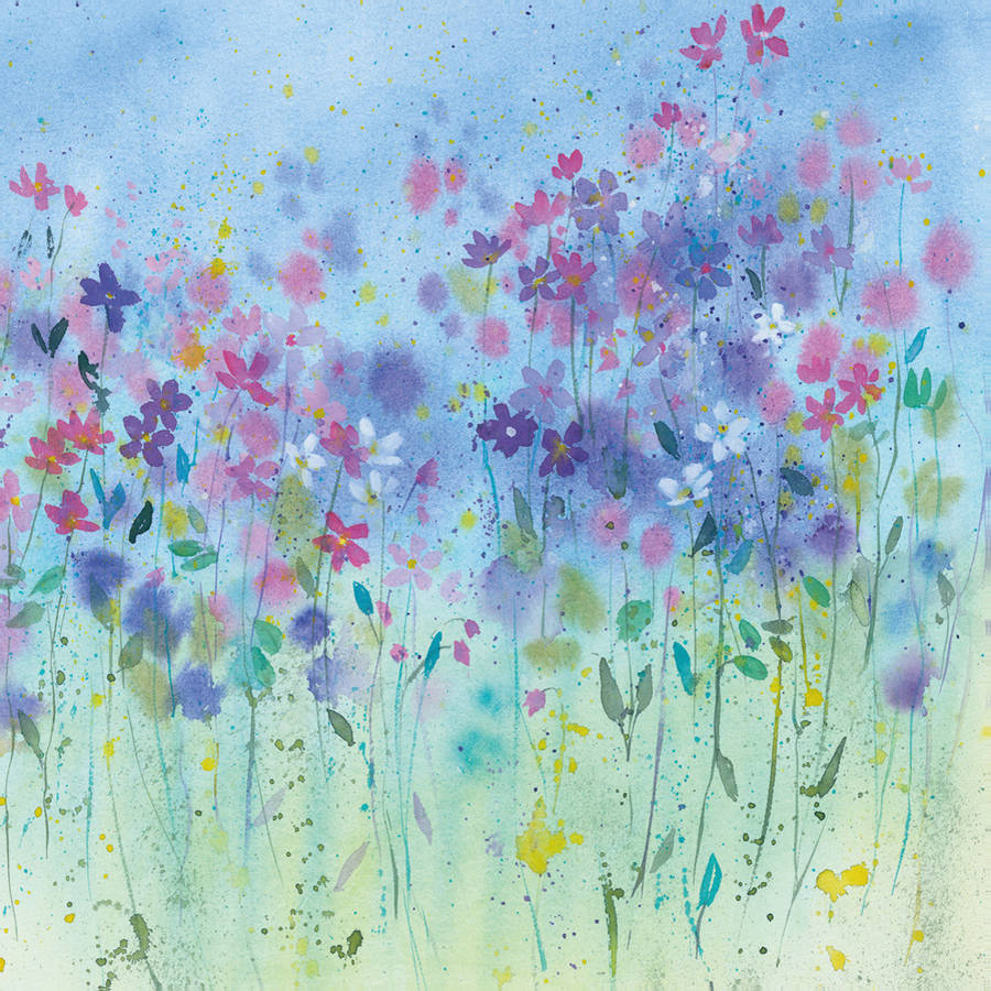 """Portfolio Canvas Decor """"Little Wild Flowers"""" by Rachel McNaughton Framed and Stretched"""