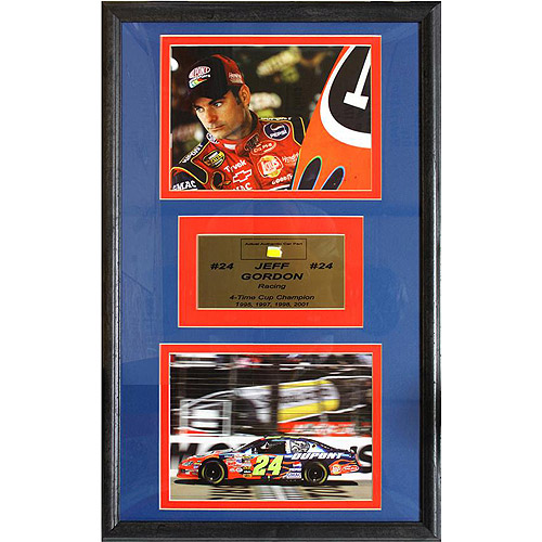 NASCAR Jeff Gordon Game Used Frame, 12x18