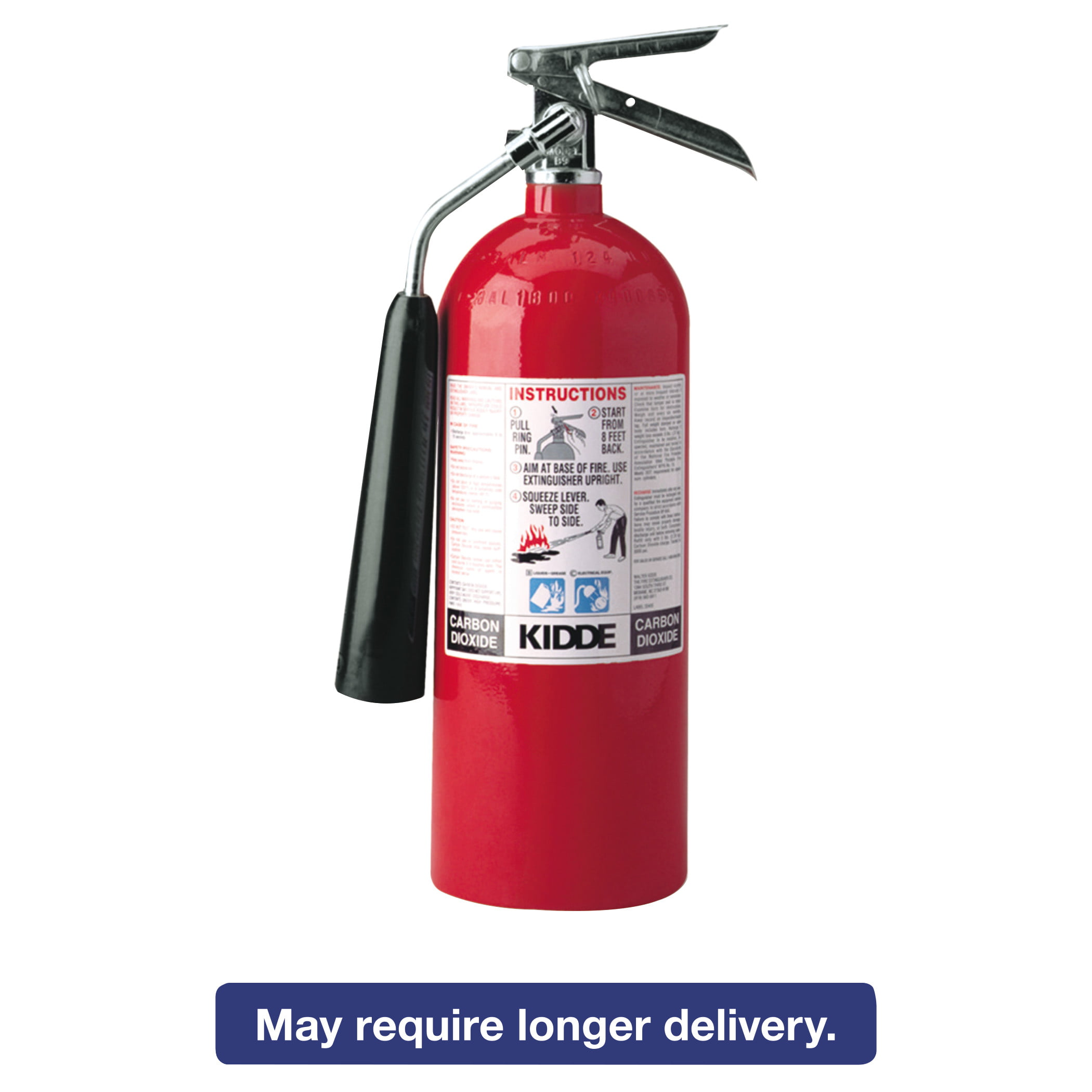 Kidde ProLine 5 CO2 Fire Extinguisher, 5lb, 5-B:C by KIDDE