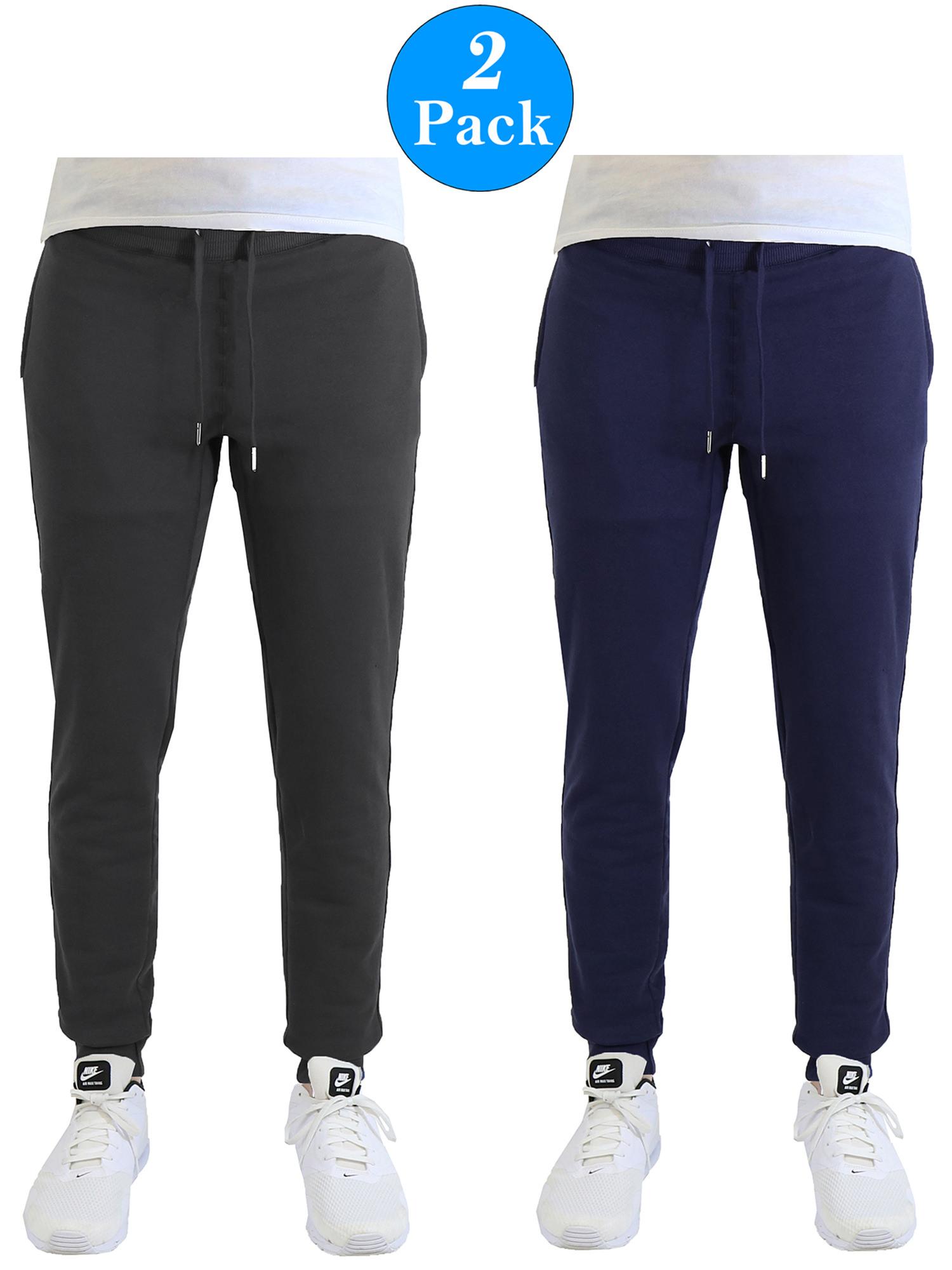 Men's Soft-Fleece Joggers With Zipper Pockets (2-Pack)