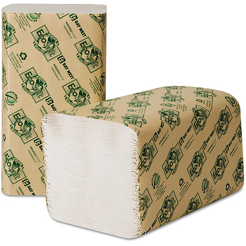 Wausau Paper Eco-Soft Natural Single-Fold Paper Towels, 250 count, (Pack of 16)