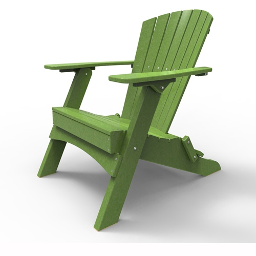 Folding Adirondack Chair by Malibu Outdoor - Hyannis, Lime