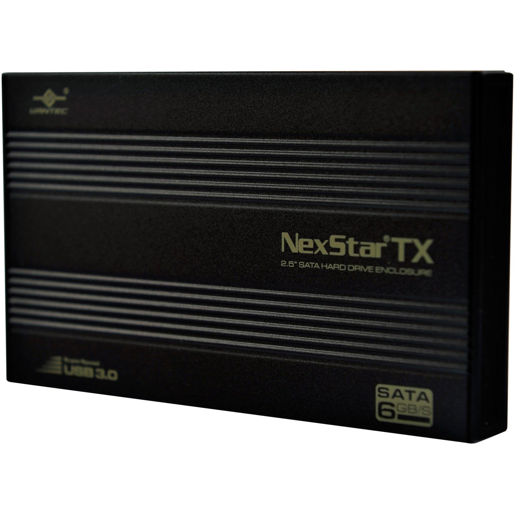 "Vantec NST-216S3-BK NexStar TX 2.5"" SuperSpeed USB 3.0 External Hard Drive Enclosure, Black"