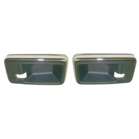 Pontiac Firebird Outside Door Handle - Goodmark Black / Chrome Door Handle Cap for 77-81 Chevy Camaro, Pontiac Firebird