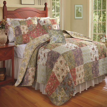 Greenland Home Blooming Prairie Quilt Amp Sham Bonus Set