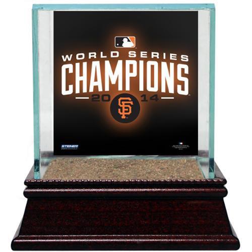 San Francisco Giants 2014 World Series Champions Single Glass Baseball Case W/ Authentic AT&T Park Stadium Dirt